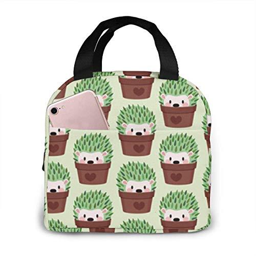 Erizos ms pequeos disfrazados de cactus Bolsa de almuerzo aislada para hombres Bolsa de almuerzo porttil Bolsas de picnic Bolsa de artculos diversos o bolsas de compras