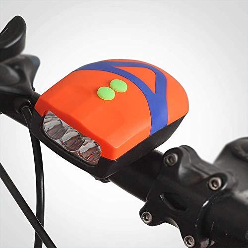 LED Fahrrad Frontleuchte, 1200 Lumen Wasserdicht Mountainbike-Licht, Quick Release Radfahren Fahrrad-Licht Mit 3 Modi Und 90 Db Horn Geeignet Für Camping,Orange