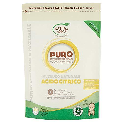 Natura Amica Puro Acido Citrico Multiuso Naturale: Ammorbidente, Anticalcare e Brillante -...