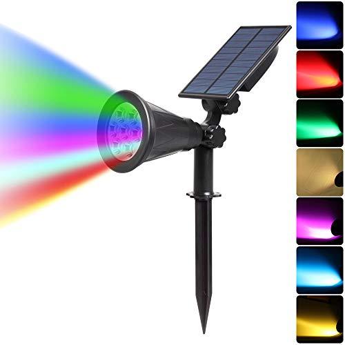 STHfficial 7 LED Solar schijnwerper auto kleurverandering buitenverlichting tuin Solar Lamp Landschap Wandlamp voor decoratie