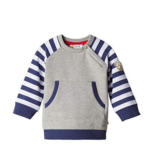 Steiff Baby - Jungen Sweatshirt , Grau (QUARRY 9007) , 50 (Herstellergröße:50)
