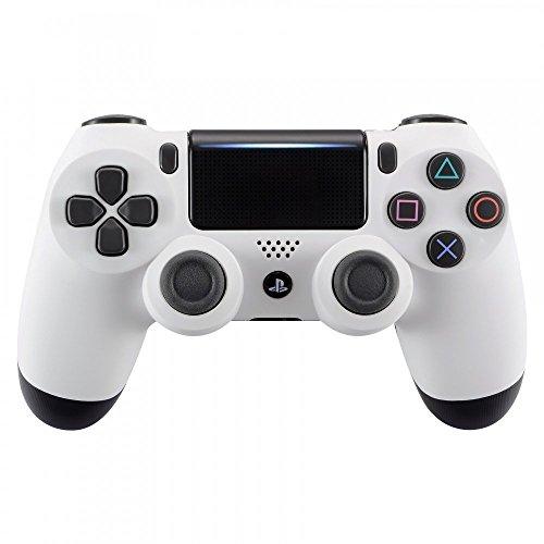 eXtremeRate PS4 Controller Gehäuse Schutzhülle Obere Case Hülle Cover Oberschale Skin Soft Touch Schale Shell für Playstation 4 PS4 Controller JDM-040 JDM-050 JDM-055(Weiß)