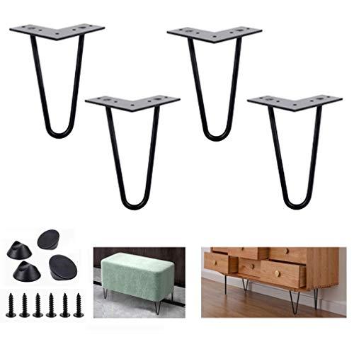 DX haarspelden, metalen poten, meubelpoten, salontafelpoten, voor salontafels, tv-kasten, computertafel, eettafels, salontafels, 4-delige pakken
