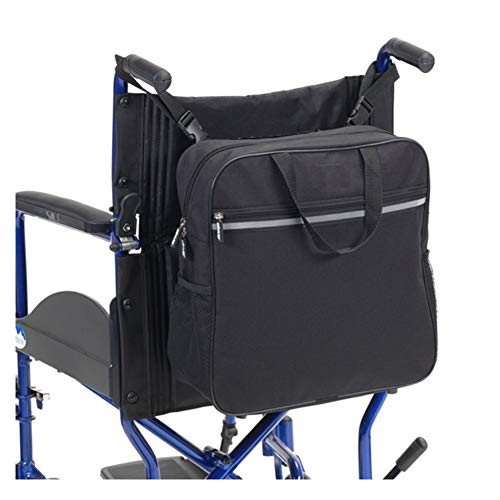 HANSHI Deluxe Wheelchair Bag, Mobility Aid Scooter Backpack for Elderly, Seniors, Disabled -Make Your Hands Free