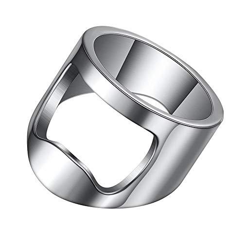 VQYSKO Beer Bar Tool Creative Versatile Stainless Steel Finger Bottle Opener Ring Party Ring (9)