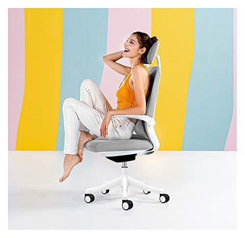 LYJBD Silla reclinable de altura ajustable con respaldo alto y respaldo alto, respaldo de malla transpirable con reposacabezas para el hogar, mujeres, hombres