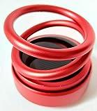 SFASTER decora il diffusore di aromi, solare auto-rotante, materiale in lega di alluminio, doppio anello sospeso effetto visivo, pressione di rilascio, (rosso)