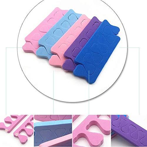 Xiton 12 Paare Zehenfinger-Separatoren Weichschaum-Zehenspreitzer Schwammfinger-Separatoren Zehenteiler Nail Art ManiküRe PediküRe Werkzeuge FüR Salon Oder Heimgebrauch (Mehrfarben)
