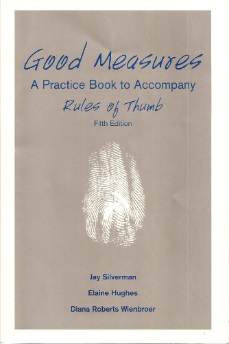 Download Good Measures: A Workbook for use with Rules of Thumb 0072528850