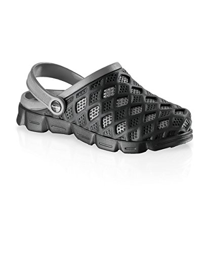 Fashy Damen und Herren Ultraleicht-Clog, Farbe schwarz, grau, Größe 41