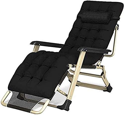 Liegestuhl Falten Zero Gravity Lounge Chair, Liegestühle Baumwollkissen, Zum Terrasse Draussen Camping Strand Sonnenliegen Bett Liege Laden Bis Zu 300 Kg Mit Kopfkissen