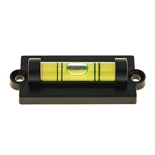 Stabile, rechteckige Miniwasserwaage mit Befestigung und Flansch. 50mm Breite, Libelle 32mm, Höhe 13mm