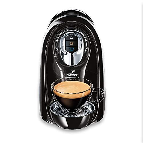 Tchibo Cafissimo Compact Kaffee Kapselmaschine (950 Watt, 1,2 Liter Wassertank) für Kaffee, Espresso und Caffè Crema, Schwarz