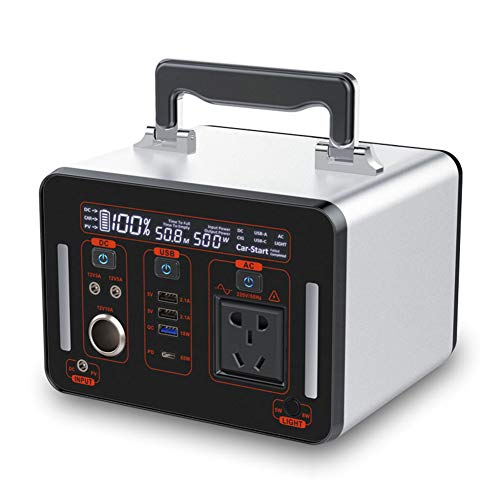 Generatore Portatile Power Inverter 500Wh 135200mAh Batteria Ricaricabile Alimentazione di Emergenza, per Campeggio, CPAP Backup di Emergenza Elettrico