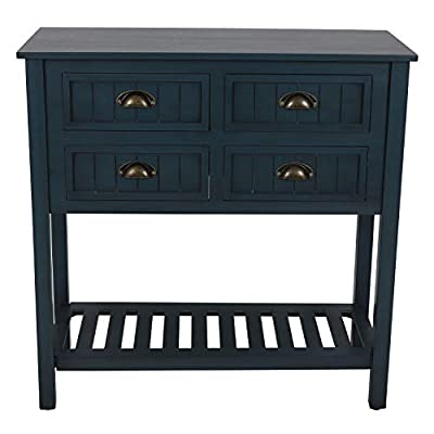 Decor Therapy Bailey Bead board 4-Drawer Console Table,