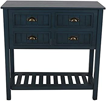 Decor Therapy Bailey Bead board 4-Drawer Console Table