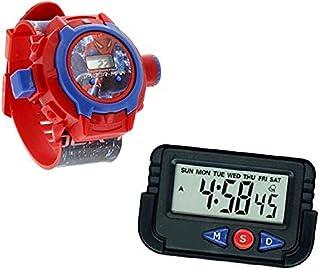 Pappi-Haunt Kids Favourite - Pack of 2 Spiderman Projector Wrist Band for Kids, Children + Car Dashboard / Office Desk Ala...