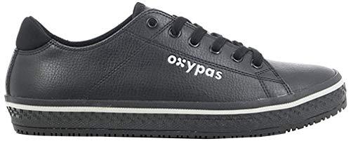 Oxypas Fashion, Clark, antistatischer (ESD) Leder-Arbeitsschuh für Herren, Farbe: Black, Größe: 46