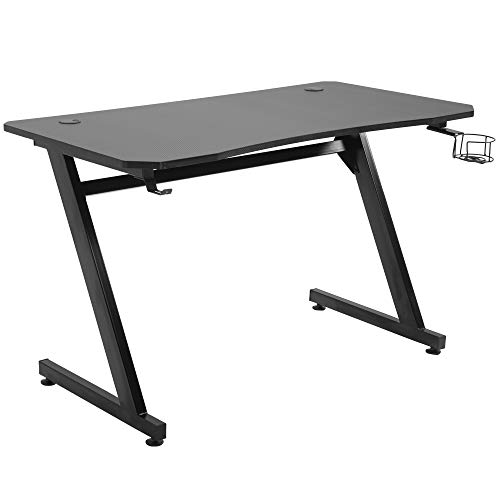 HOMCOM 47.25' Gaming Desk Computer Table Metal Frame with Cup Holder,...