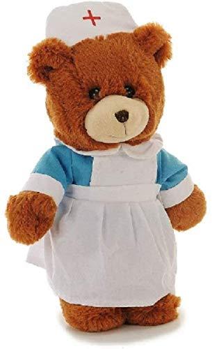 Stofftier Teddybär Krankenschwester | Plüschtier Bär Braun 28 cm | Kuscheltier weich flauschig süß | Plüschbär Tröster Spielzeug waschbar | Schmusetier Geschenke-Ideen für Kinder | Bär Krankenhaus