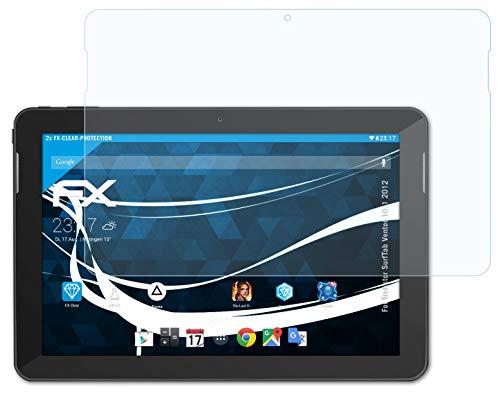 atFolix Schutzfolie kompatibel mit Trekstor SurfTab Ventos 10.1 2012 Folie, ultraklare FX Bildschirmschutzfolie (2X)