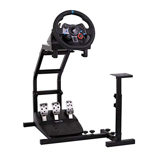 Hottoby Racing Wheel Stand Pro Support with V2 Stand Up Simulation Driving Bracket for G29, G27 and G25 Racing Simulator Steering Wheel Stand Without Wheel and Pedals
