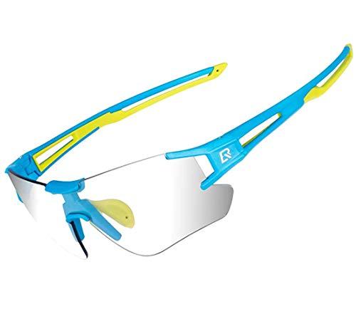ROCKBROS Occhiali da Sole Ciclismo Sportivi Occhiali Bici MTB PC Lenti Fotocromatiche UV400 Ultraleggero Uomo Donna Unisex