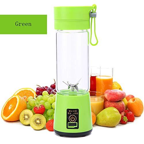 HYwot Youke persönlicher tragbarer Mixer, elektrischer Fruchtmischer mit 6 USB-Klingen, wiederaufladbar für Zuhause, Büro, Sport, Reisen, Draußen, perfekt für Obst, Gemüse, Milchshake,Green