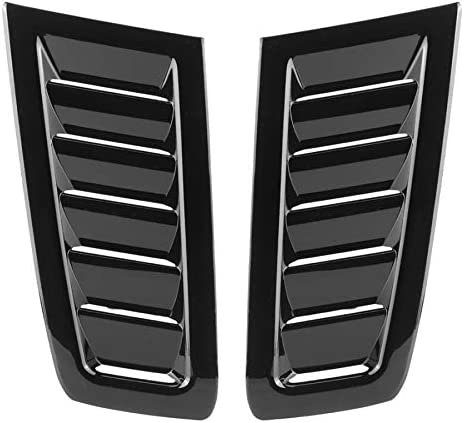 JKMQA Auto Car ABS Bonnet Air Vent Modified Accessory Fits For Ford Focus RS MK2Glossy Black