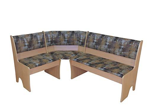 moebel direkt online Eckbank 124x165 cm Dunja buche Natur - Mocca