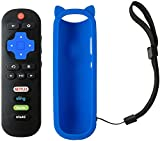 Remote Control Compatible with TCL Roku TV 32S305 32S325 49S405 49S403 43S303 55S403 32S301 32S4610R 32S3850A 32S3700 50FS3800 32S3750 32S3800 43FP110 55s405 55p605 55s517 with Blue Silicone Case