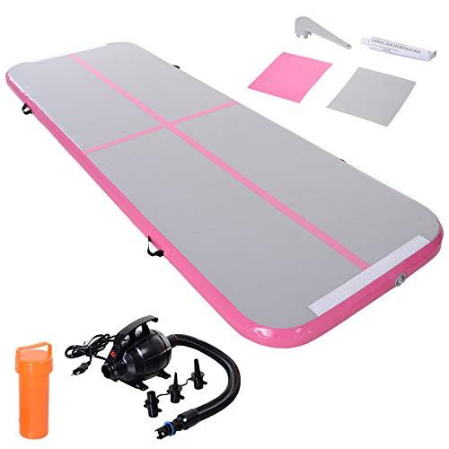 HOMCOM Airtrack Tapis de Gymnastique Air Track Tapis de Gym Gonflable Tumbling Gymnastique dim. 300L x 100l x 10H cm Tissu stratifié PVC