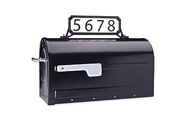 Architectural Mailboxes 3460B Manhattan Address Plaque Small Black