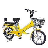 HMEI Bicicleta electrica Plegable Ligera Bicicleta eléctrica for Adultos 35 / 45AH Batería Bicicleta eléctrica 4 8v 350w Motor sin escobillas Bicicleta eléctrica MILAJE MILAJE 300km Ciudad BICICLE