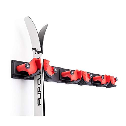 Soporte para esquís y herramientas para garaje y sótano, fácil montaje, hasta 12 kg