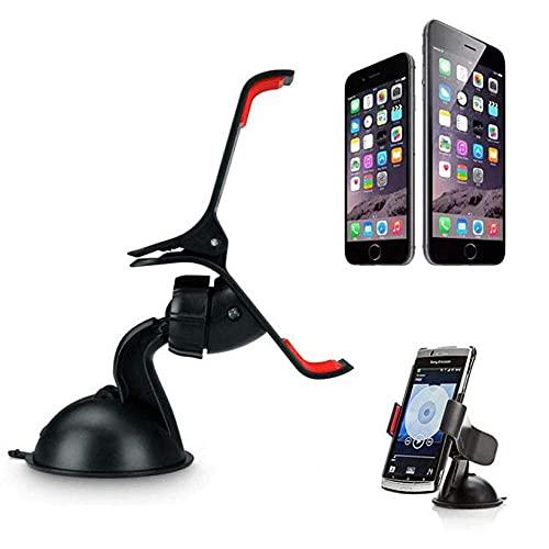 NOVHOME Soporte para teléfono para automóvil, Soporte para teléfono para automóvil Soporte Universal para Montaje en Parabrisas para automóvil para iPhone 5S 6S / 6 Plus Teléfono GPS Envío