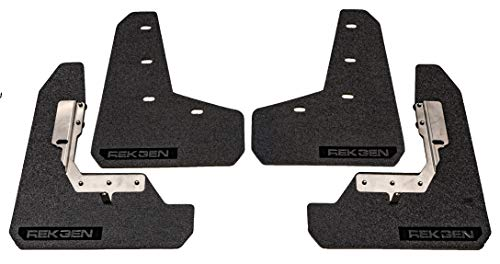 REK GEN Mud Flaps 2015+ Compatible with Subaru WRX/STI - Mounting Hardware & Instructions Included (Black Logo)