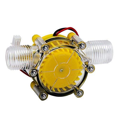 QWERTOUY Turbina del Flujo de Agua DC 5V / 12V / 80V 10W de la Bomba Mini Hydro generador de Flujo de conversión hidráulica para Generadores de Energía de conversión de energía,5v
