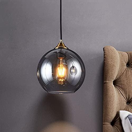 Luz colgante de cristal Globo de vidrio Sombra de cristal lámpara colgante de mediados del siglo techo Colgante de la luz Lámpara de luz de un solo colgante de la iluminación colgante para el dormitor