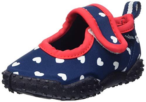 Playshoes Jungen Mädchen Aqua-Schuhe Herzchen, Blau (Marine 11), 18/19 EU