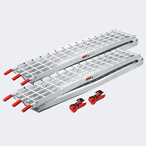 Wiltec 2X Rampe di carico Pieghevoli in Alluminio per Moto e Quad 310cm 1080kg