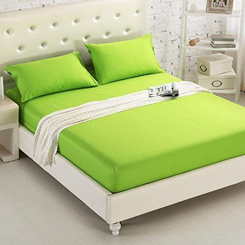 BOLO Sábana bajera ajustable para cama individual, sábana bajera de polialgodón 100% poliéster, suave, transpirable, comodidad para el sueño, 200 x 220 + 20 cm