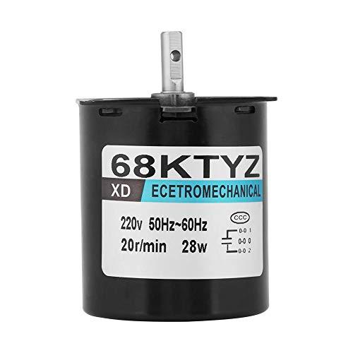 Synchronmotor, 68KTYZ Metall-Permanentmagnetmotor AC220V 0,5A 50Hz-60Hz 28W D-Getriebemotor für Instrumentenautomatisierungs-Bühnenlampen(20RPM-#1)