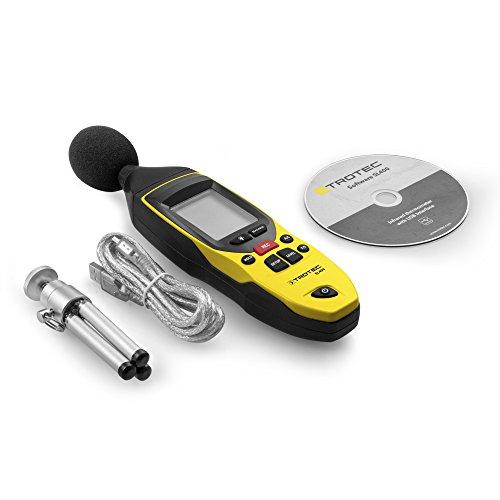 TROTEC 3510005020 SL400 Schallpegel Messgerät mit Datenlogger-Funktion (bis zu 32.700 Messwerte) mit USB-Anschluss und 3,5 mm Klinkenbuchse / Inkl. Kalibrierzertifikat, Mini-Stativ und Transportkoffer - 9
