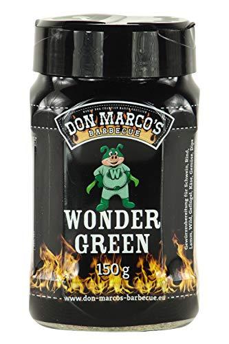 Don Marco's Barbecue Rub Wondergreen 150g in der Streudose, Grillgewürzmischung