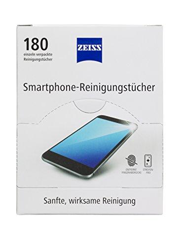 ZEISS Smartphone-Reinigungstücher 180 Stk. alkoholfrei, Reinigung für Smartphonedisplays