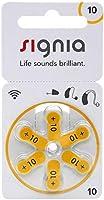 Siemens Signia Hearing Aid Batteries MF Pack of 6 Batteries Size- (Signia-10-Pack of 5)