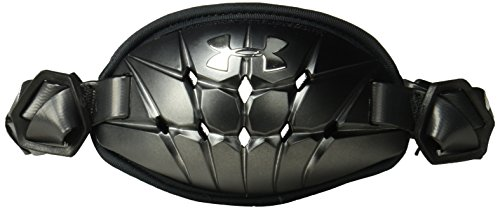 Under Armour Men's Gameday Armour Pro Chin Strap, Black (001)/Metallic Silver, One Size Fits All
