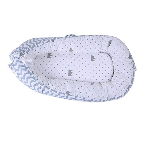 Material de algodón Cojín de cojín para recién nacidos Cama transpirable para tumbonas de bebé para niños pequeños para diseño desmontable(BY-2050)