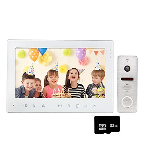 SMLJLQ Video Intercom 7 Inch Wired 1200TVL Video Door Phone Doorbell Camera Call Panel 130° Motion Detect for Home Security (Size : B)